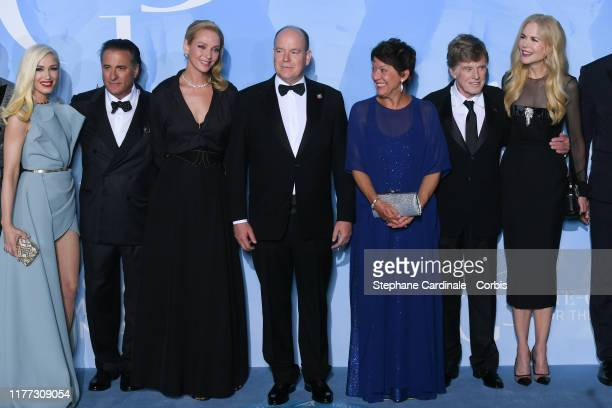 US singer Gwen Stefani US actor Andy Garcia US actress Uma Thurman Prince Albert II of Monaco Sibylle Szaggars US actor Robert Redford and Australian...