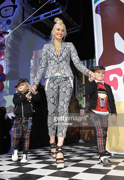 Singer Gwen Stefani with sons Zuma Rossdale and Kingston Rossdale attend Gwen Stefani's launch of her Harajuku Mini for Target Collection at Jim...