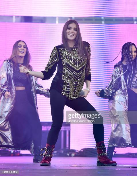 Singer Hailee Steinfeld performs at 1027 KIIS FM's 2017 Wango Tango at StubHub Center on May 13 2017 in Carson California