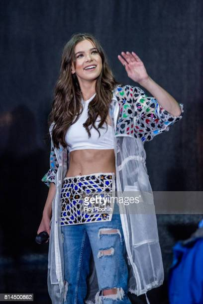 """Singer Hailee Steinfeld performs on NBC's """"Today"""" at Rockefeller Plaza on July 14, 2017 in New York City."""