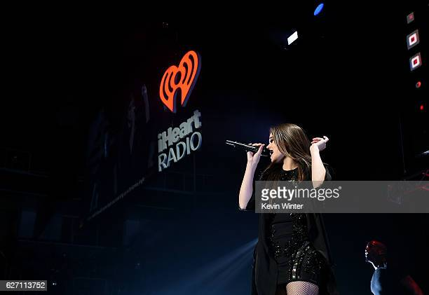 Singer Hailee Steinfeld performs onstage at WiLD 949's FM's Jingle Ball 2016 presented by Capital One at SAP Center on December 1 2016 in San Jose...