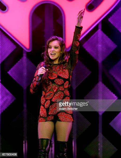 Singer Hailee Steinfeld performs onstage during 1013 KDWB's Jingle Ball 2016 presented by Capital One at Xcel Energy Center on December 5 2016 in St...