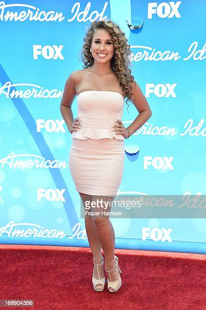 Singer Haley Reinhart attends Fox's American Idol 2013 Finale Results Show at Nokia Theatre LA Live on May 16 2013 in Los Angeles California