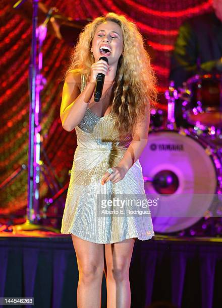 Singer Haley Reinhart performs at the 60th Annual BMI Pop Music Awards on May 15 2012 in Beverly Hills California