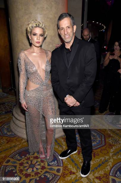 Singer Halsey and Kenneth Cole attend the 2018 amfAR Gala New York at Cipriani Wall Street on February 7 2018 in New York City