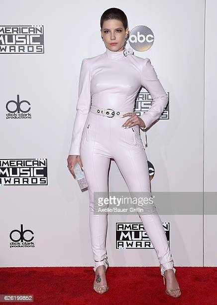 Singer Halsey arrives at the 2016 American Music Awards at Microsoft Theater on November 20 2016 in Los Angeles California