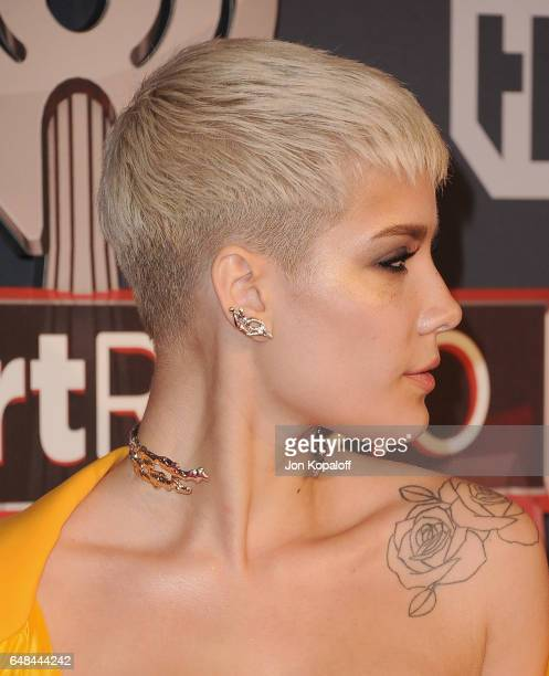 Singer Halsey arrives at the 2017 iHeartRadio Music Awards at The Forum on March 5 2017 in Inglewood California