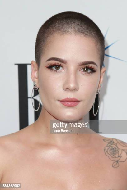 Singer Halsey arrives at the 65th Annual BMI Pop Awards at the Beverly Wilshire Four Seasons Hotel on May 9 2017 in Beverly Hills California