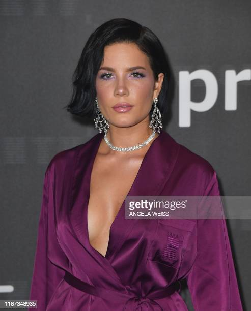 Singer Halsey arrives for the Savage X Fenty Show Presented By Amazon Prime Video at Barclays Center on September 10, 2019 in Brooklyn, New York.