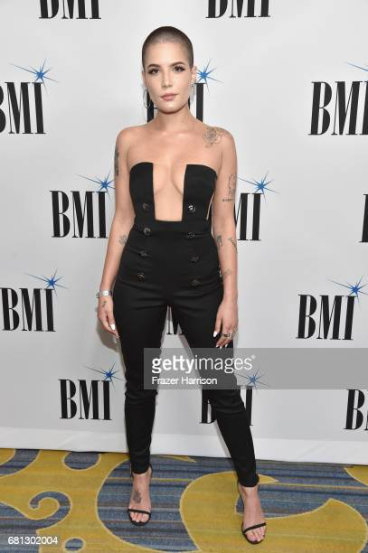 Singer Halsey at the Broadcast Music Inc honors Barry Manilow at the 65th Annual BMI Pop Awards on May 9 2017 in Los Angeles California