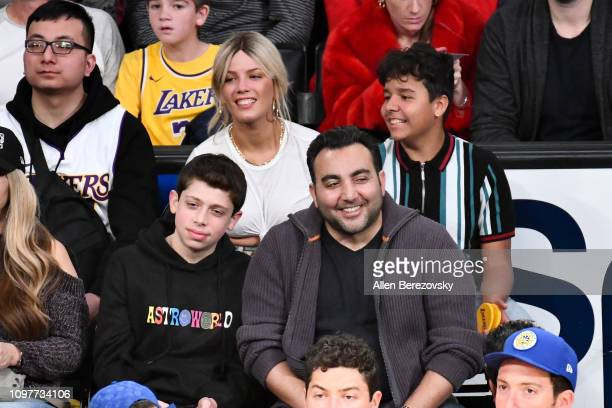 Singer Halsey attends a basketball game between the Los Angeles Lakers and the Golden State Warriors at Staples Center on January 21 2019 in Los...