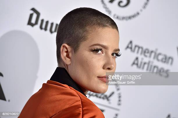 Singer Halsey attends Capitol Records 75th Anniversary Gala at Capitol Records Tower on November 15 2016 in Los Angeles California