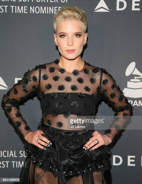 Singer Halsey attends Delta Air Lines official Grammy event featuring private performance and interactive evening with Halsey at Beauty Essex...