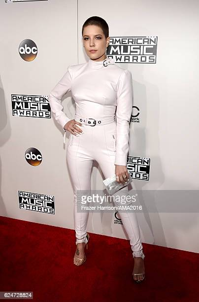 Singer Halsey attends the 2016 American Music Awards at Microsoft Theater on November 20 2016 in Los Angeles California