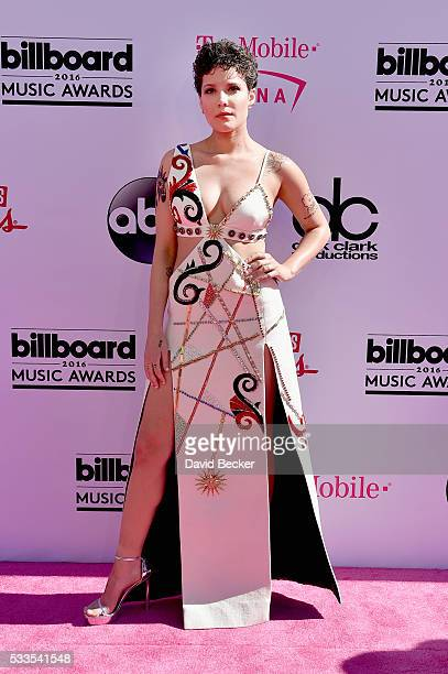 Singer Halsey attends the 2016 Billboard Music Awards at TMobile Arena on May 22 2016 in Las Vegas Nevada