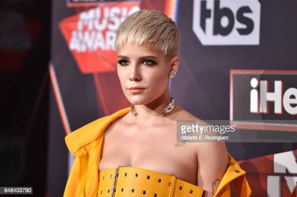Singer Halsey attends the 2017 iHeartRadio Music Awards which broadcast live on Turner's TBS TNT and truTV at The Forum on March 5 2017 in Inglewood...