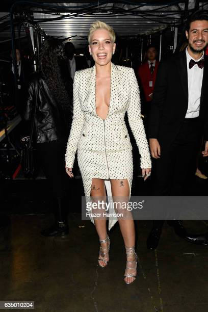Singer Halsey attends The 59th GRAMMY Awards at STAPLES Center on February 12 2017 in Los Angeles California