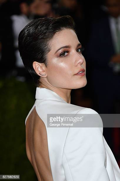 Singer Halsey attends the 'Manus x Machina Fashion in an Age of Technology' Costume Institute Gala at the Metropolitan Museum of Art on May 2 2016 in...