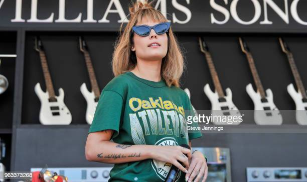Singer Halsey attends the William Sonoma Culinary Stage on Day 3 of BottleRock Napa Valley Music Festival at Napa Valley Expo on May 27 2018 in Napa...