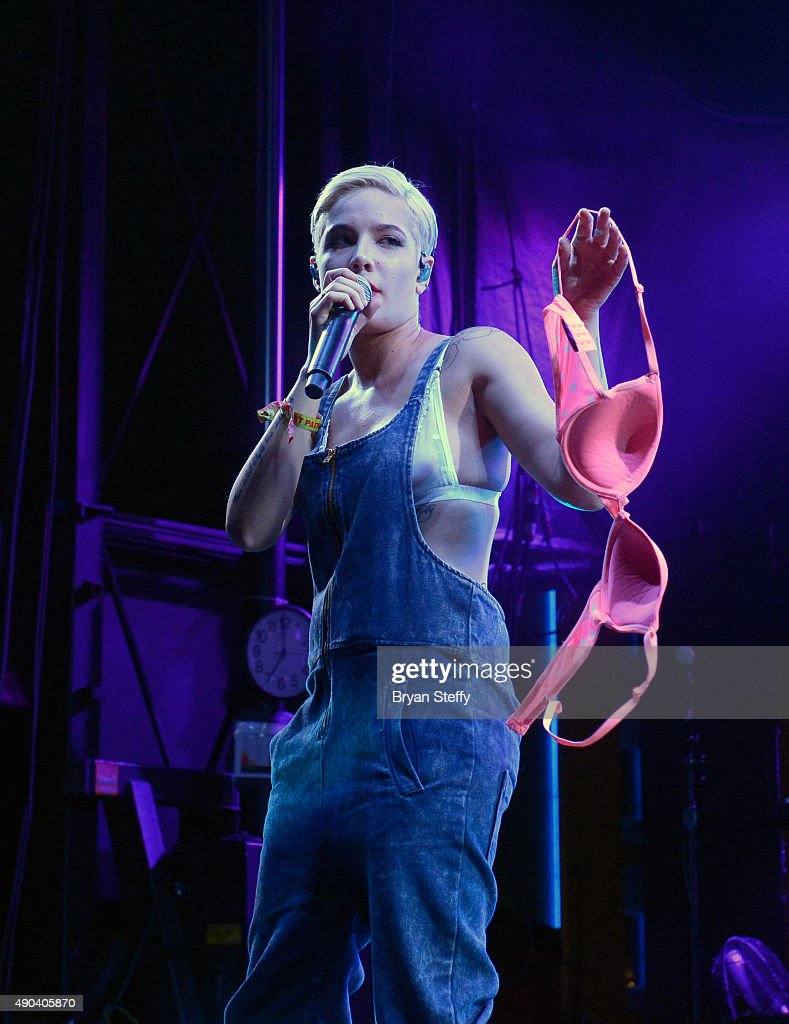 Singer Halsey performs during the 2015 Life is Beautiful festival on September 27, 2015 in Las Vegas, Nevada.