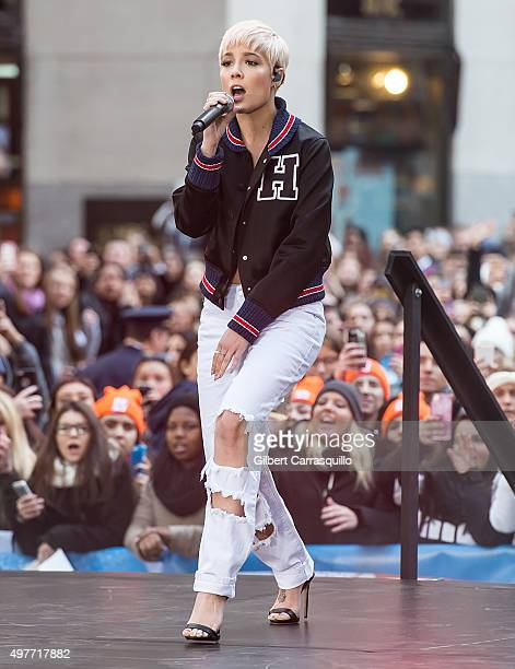 Singer Halsey performs on NBC's 'Today' Citi Concert Series at the NBC's TODAY Show on November 18 2015 in New York New York