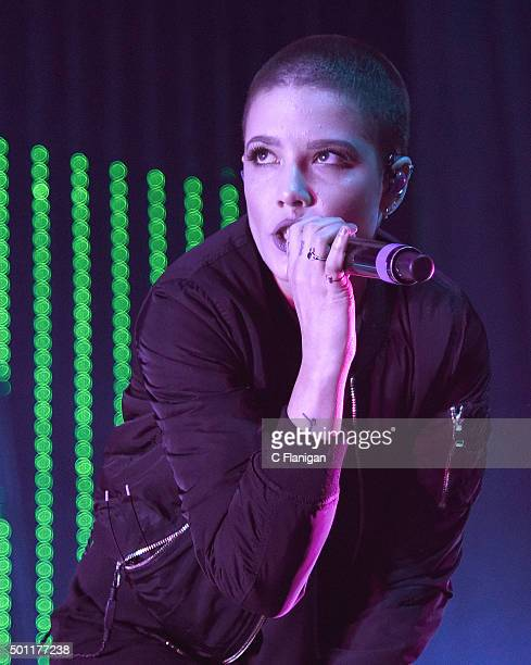 Singer Halsey performs onstage during 1067 KROQ Almost Acoustic Christmas 2015 at The Forum on December 12 2015 in Los Angeles California