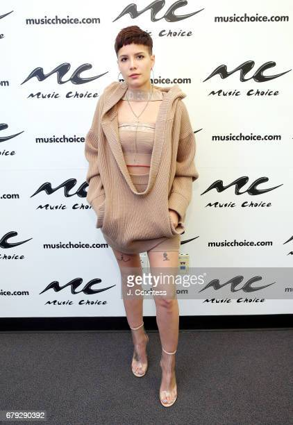 Singer Halsey visits Music Choice on May 5 2017 in New York City