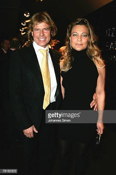 Singer Hansi Hinterseer and his wife Romana attend the Kitzrace Party January 27 in Kitzbuehel Austria