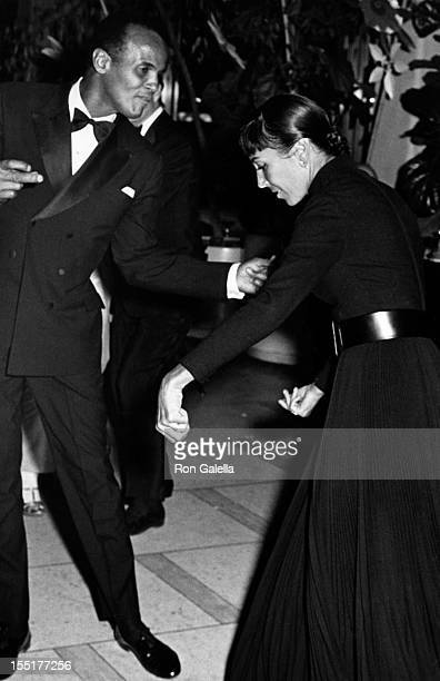 Singer Harry Belafonte and wife Julia Robinson attend Broadway For Peace Benefit Gala on January 21 1968 at Philharmonic Hall in New York City
