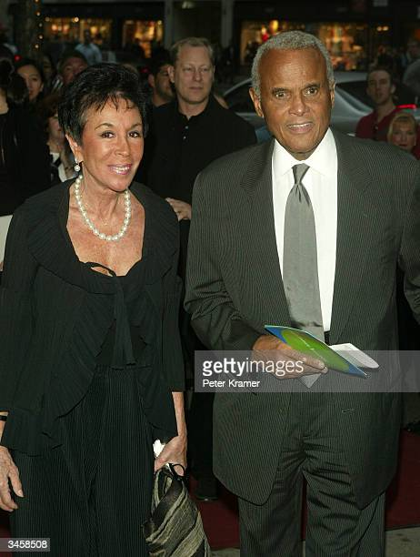 Singer Harry Belafonte and wife Julie attend the Sundance Institute Honors Risk Takers in the Arts 3rd Annual Gala April 22 2004 in New York City
