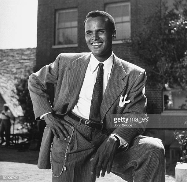 Singer Harry Belafonte in his film debut as a principal in Bright Road.