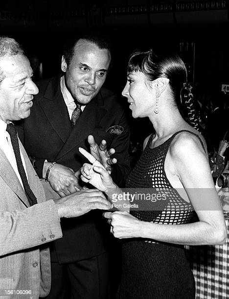 Singer Harry Belafonte wife Julia Robinson and guest attending 'Free Southern Theater Dinner' on May 11 1969 at the Waldorf Astoria Hotel in New York...
