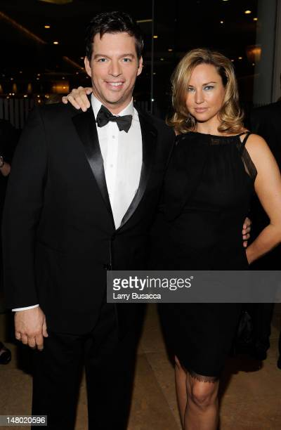 Singer Harry Connick Jr and actress Jill Goodacre arrive at the 52nd Annual GRAMMY Awards Salute To Icons Honoring Doug Morris held at The Beverly...