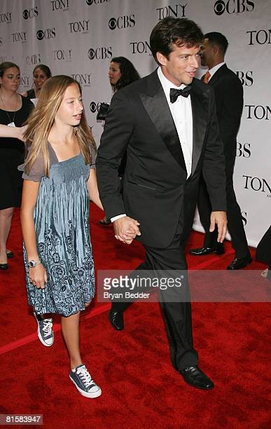 Singer Harry Connick Jr and daughter Georgia arrives at the 62nd Annual Tony Awards held at Radio City Music Hall on June 15 2008 in New York City