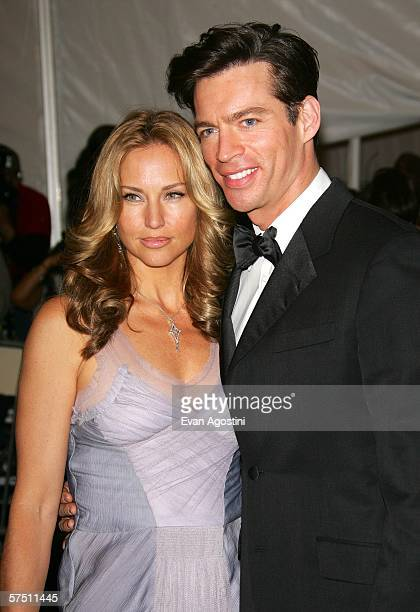 Singer Harry Connick Jr and his wife Jill Goodacre attend the Metropolitan Museum of Art Costume Institute Benefit Gala Anglomania at the...