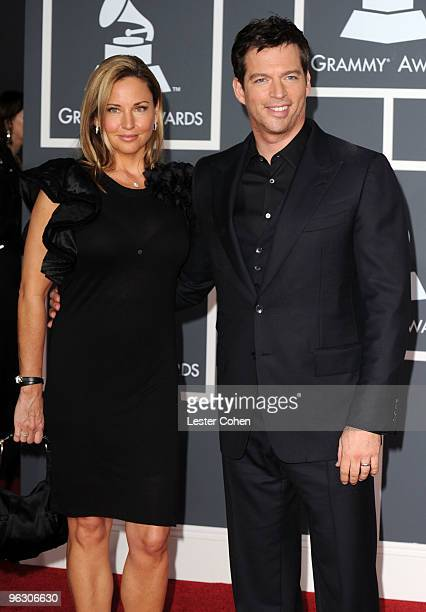 Singer Harry Connick Jr and wife Jill Goodacre arrive at the 52nd Annual GRAMMY Awards held at Staples Center on January 31 2010 in Los Angeles...
