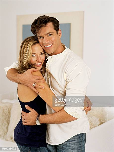 Singer Harry Connick Jr and wife/model Jill Goodacre are photographed for Redbook Magazine in 2006 in Los Angeles California PUBLISHED IMAGE