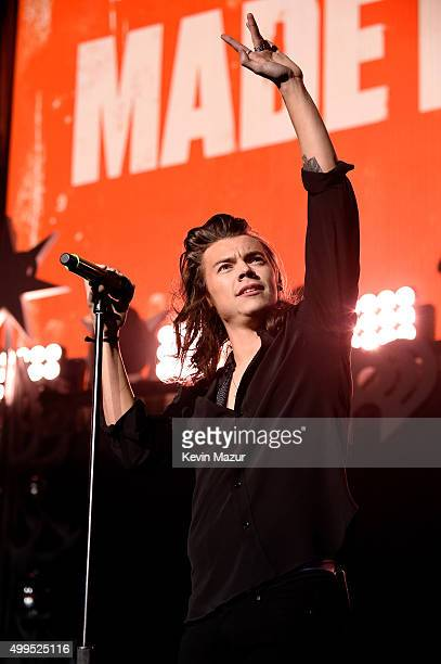 Singer Harry Styles of musical group One Direction performs onstage during 106.1 KISS FM's Jingle Ball 2015 presented by Capital One at American...