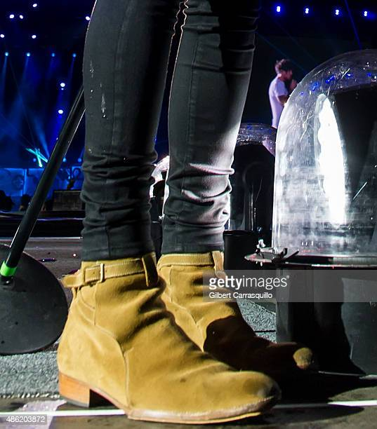 Singer Harry Styles shoe detail of One Direction performs during their On the Road Again Tour 2015 at Lincoln Financial Field on September 1 2015 in...