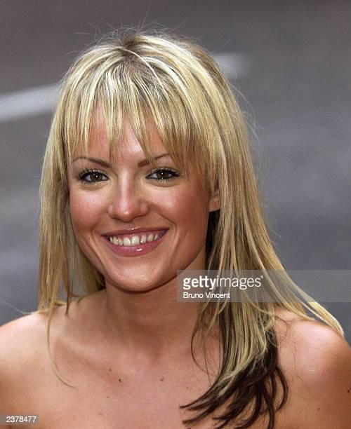 Singer Hayley Evetts arrives at the UK premiere of 'American Wedding' the third installment in the 'American Pie' films August 7 2003 in London