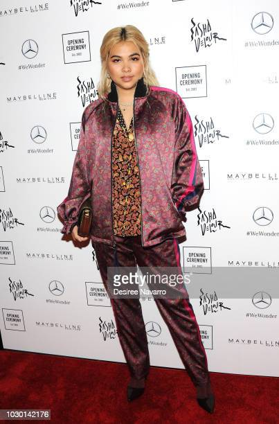 Singer Hayley Kiyoko attends Opening Ceremony September 2018 during New York Fashion Week at Le Poisson Rouge on September 9 2018 in New York City