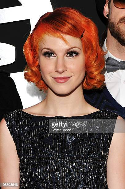 Singer Hayley Williams of Paramore arrives at the 52nd Annual GRAMMY Awards held at Staples Center on January 31, 2010 in Los Angeles, California.