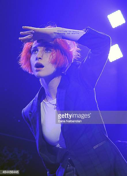 Singer Hayley Williams of Paramore performs at KISS Jingle Ball at Comcast Arena at Everett on December 8 2013 in Everett Washington