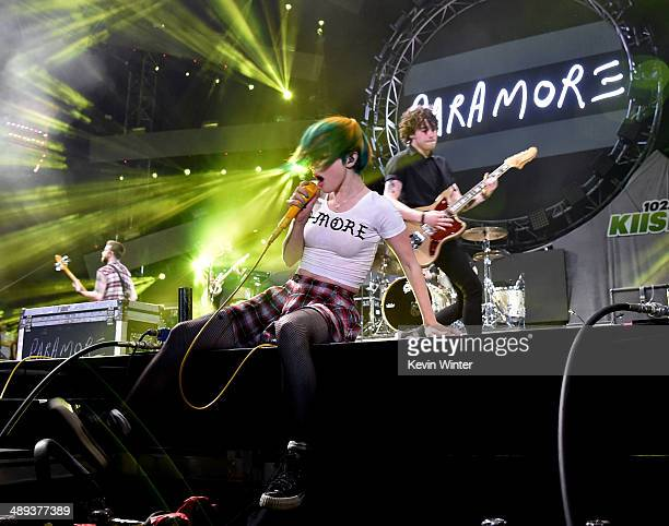 Singer Hayley Williams of Paramore performs onstage during 102.7 KIIS FM's 2014 Wango Tango at StubHub Center on May 10, 2014 in Los Angeles,...