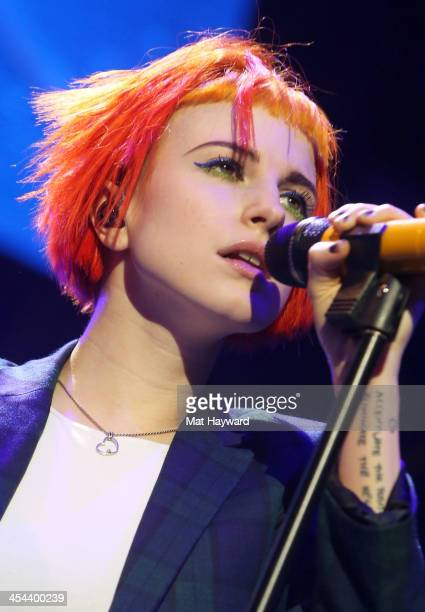 Singer Hayley Williams of Paramore performs onstage during 1061 KISS FM's Jingle Ball 2013 at Comcast Arena at Everett on December 8 2013 in Seattle...