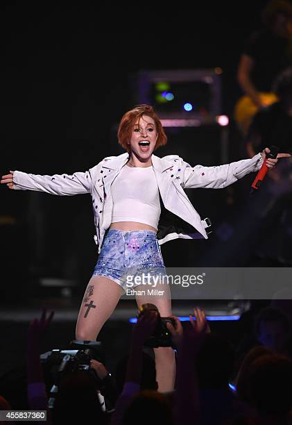Singer Hayley Williams of Paramore performs onstage during the 2014 iHeartRadio Music Festival at the MGM Grand Garden Arena on September 20, 2014 in...