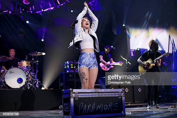 Singer Hayley Williams of Paramore performs onstage during the 2014 iHeartRadio Music Festival at the MGM Grand Garden Arena on September 20 2014 in...