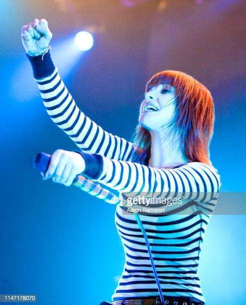 Singer Hayley Williams of the group Paramore in Los Angeles California
