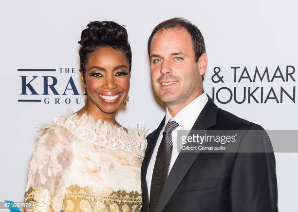 Singer Heather Headley and husband Brian Musso attend Elton John AIDS Foundation Commemorates Its 25th Year And Honors Founder Sir Elton John During...