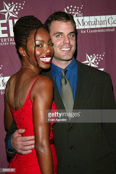 Singer Heather Headley with boyfriend Brian Musso at the 42nd Vine Hollywood Hits Broadway fundraiser for the Jay Monahan Center for Gastrointestinal...
